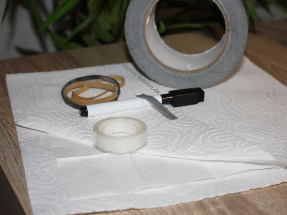 Mund Maske basteln mit einfachen Materialien
