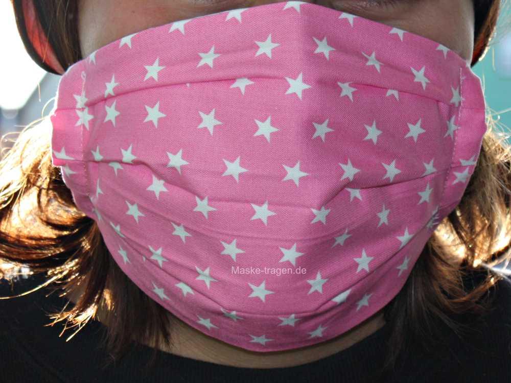 Waschbare Maske aus Stoff
